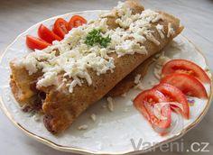 Palačinky z celozrnné mouky se špenátem a balkánským sýrem