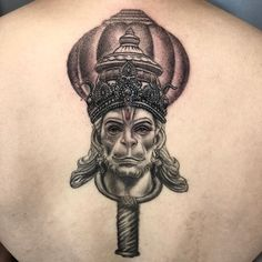 Hanuman the Monkey God. Religious concept, back piece in progress made in Buddhist Symbol Tattoos, Hindu Tattoos, God Tattoos, Hanuman Tattoo, Kali Tattoo, Tattoo Art, Ganesha Tattoo, Lotus Tattoo, Neck Tattoo For Guys