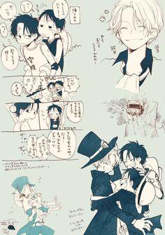 chanko☀️ (@nekochanko1) さんの漫画 | 24作目 | ツイコミ(仮) One Piece Meme, One Piece Comic, One Piece Fanart, One Piece Manga, Sabo One Piece, One Piece Luffy, Ace Sabo Luffy, One Peace, A Silent Voice