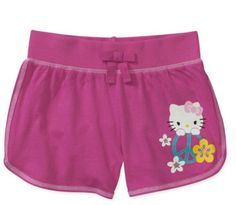 Hello Kitty Girls' Jersey Shorts Size 10/12 in Pink for Summer NWT #HelloKitty #Everyday