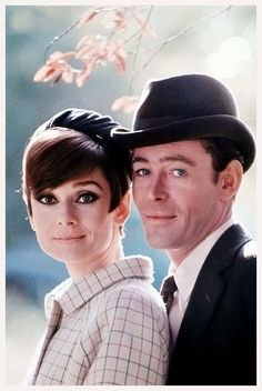 Audrey Hepburn and Peter O'Toole (2 August 1932 – 14 December 2013) in a promotional photo from How to Steal a Million (1966).