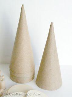 paper cones - micheal's - DIY christmas decor