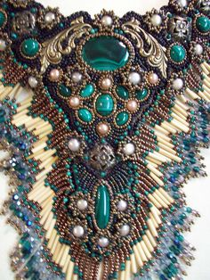 Malachite and pearls