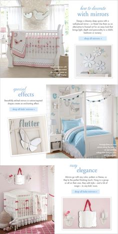 butterfly mirror with frames Pottery Barn Kids