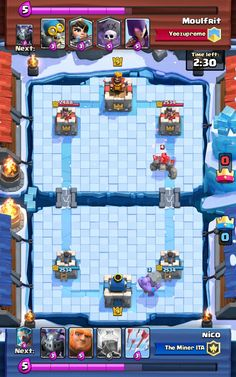 Play clash royale arena 8