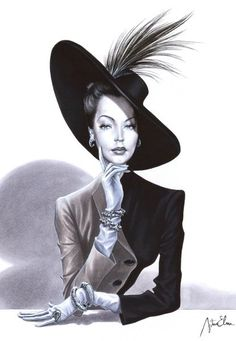 black and white~Arturo Elena Fashion illustration Fashion Art, Love Fashion, Vintage Fashion, Artist Fashion, Madame Chic, Alberto Giacometti, Illustration Sketches, Fashion Illustrations, Portrait Illustration