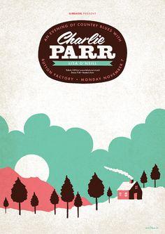 Charlie Parr gig poster