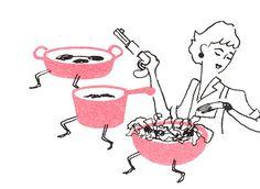 The Retro/Vintage Scan Emporium: 1950's cookbook illustrations