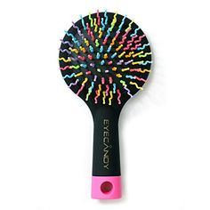 Hot sale Hair Brush Comb with Mirror for Wet or Dry Hair  Detangling Brush for Kids  Adults  No Tangle Brush two color choose black ** Want additional info? Click on the image.(This is an Amazon affiliate link and I receive a commission for the sales)