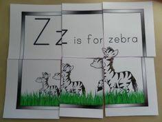 Z for zebra, printable resources
