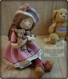 piccolebambole.blogspot.com doll bear porcellana fredda, pasta di mais.