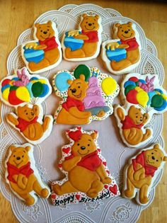 Winnie The Pooh Cookies. .. BEAUTIFUL!