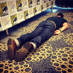 """Which is a good thing, because everyone is probably pretty exhausted after a full day at the Con.   What It's Really Like To Be A Celebrity At Comic-Con, As Told By """"Arrow"""""""
