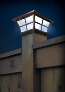 Light up your fence, deck, patio or porch without running electric and saving you money, with these two Prestige Solar Post Cap Lights. http://www.mysolarshop.com/prestige-solar-post-cap-lights-sl079