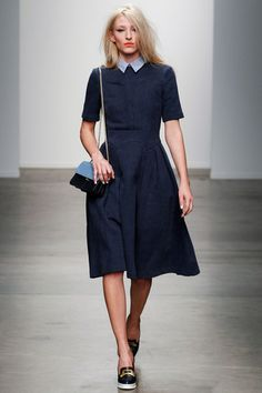 Karen Walker Collection Slideshow on Style.com.... Coal lips and chambray perfection