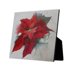 Poinsettia Christmas Oil Painting - - -  A striking #seasonal #digital #oil #painting of a #Poinsettia #flower in rich tones of #red, #burgundy, #wine, #peach #pink, and #green, perfect for #Christmas or any other #winter #holiday. - - -    Take a look at all the other designs at my storefront!  http://tinyurl.com/leo9be9