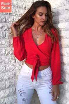 672c0003df901b 11 Best Red blouse outfit images