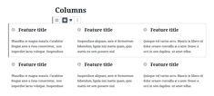 Grid effect of Columns blocks in WordPress editor Columns Inside, Column Base, Blog Writing, Business Website, Grid, Wordpress, Grief, Interior Columns