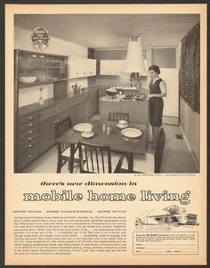 1963 Mobile Home Manufactures Vintage Print Ad