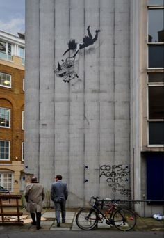 "this banksy ""shop 'til you drop"" piece put up on black friday is beside my brother's london office building"