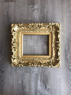 a84fd524c2e5 8x10 Gold Frame Baroque Style Picture Frame Art Frames Wall