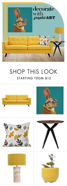 """""""Untitled #354"""" by hajni0103 on Polyvore featuring interior, interiors, interior design, home, home decor, interior decorating, Dot & Bo, Kate Spade and graphicart"""