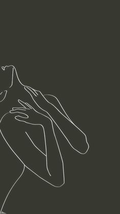 Minimal Wallpaper, Dark Wallpaper Iphone, Phone Wallpaper Images, Aesthetic Iphone Wallpaper, Outline Art, Line Art Design, Illustration Mode, Abstract Line Art, Diy Canvas Art