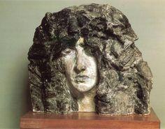 'Demonio', escultura de Mikhail Vrubel (1856-1910, Russia)