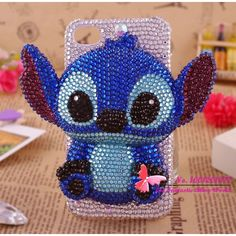 High quality 3D bling diamond Stitch cell phone case for iphone 5 hot... ❤ liked on Polyvore