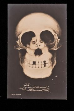 Tete de Mort postcard, c.1900 ,   (An exhibition about death) Wellcome Collection London