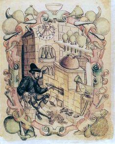Alchemical laboratories - manuscripts
