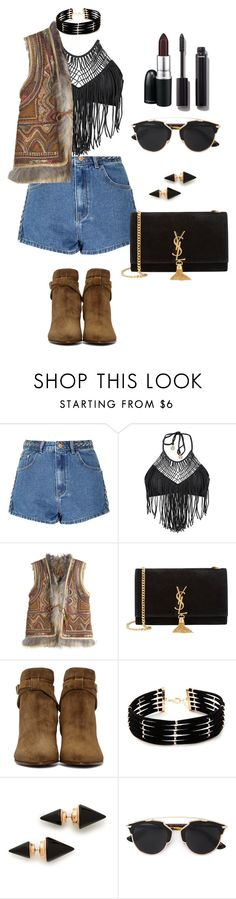 """""""Coachella."""" by monsteryay ❤ liked on Polyvore featuring Glamorous, Luli Fama, Calypso St. Barth, Yves Saint Laurent, Forever 21, Vita Fede, Christian Dior, MAC Cosmetics and Chanel"""