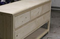 FREE Woodwork Plans http KKEEYY Wood Dresser Plans How to Build A DIY Wooden Dresser Table Timelapse Video But with so much storage Free