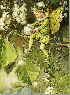 Cicely Mary Barker - Fairies of the Trees - The Poplar Fairy Painting