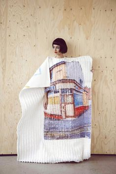 conceptual knitwear collection ʻPostcards from Blackpool' by Carrie-Ann Stein