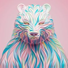 Maxim Shkret is a freelance digital artist with 10 years of experience in advertising agencies. His portraits are brilliant confluence of surrealism. 3d Portrait, Pet Portraits, Portrait Illustration, Digital Illustration, Illustration Styles, Drawn Art, Unique Animals, Animal Totems, Graphic Art