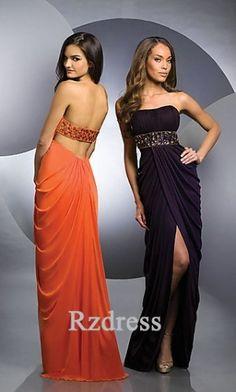 c4d9626b9fa1e Belle robe de soirée sans bretelle plissée avec cristaux robe de soirée  2013 mousseline