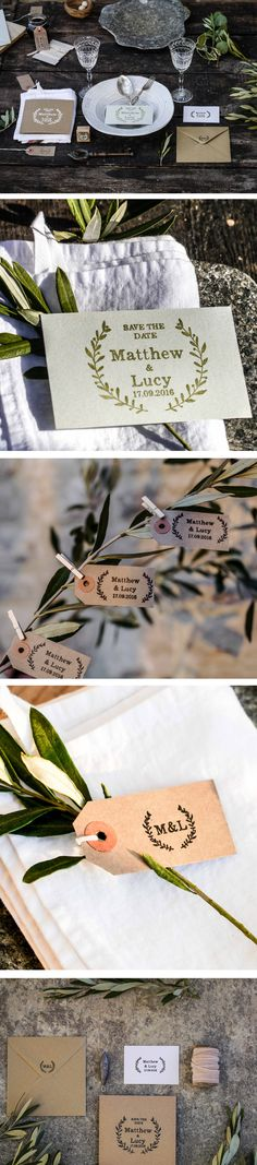 Natural Wedding Rubber Stamp Colection from The English Stamp Company - making rubber stamps since Wedding Stamps, Wedding Stationery, Wedding Suite, Our Wedding, English Stamp Company, Save The Date Stamp, Grecian Wedding, Rsvp, Create Your Own