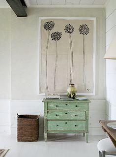 inspiring art + pretty dresser