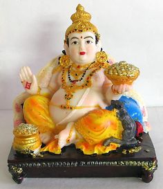 Kuber is regarded as the god of wealth, in Hindu mythology. Lord Kubera is also known as the god of yakshas (savage beings). Kubera is always remembered with the goddess of fortune, Lakshmi. Buddhist Symbol Tattoos, Buddhist Symbols, Hindu Tattoos, Indian Goddess, Goddess Lakshmi, Good Night Friends, Lakshmi Images, Pooja Room Design, Spiritual Images