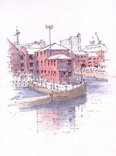 Brewery Wharf in Leeds ~ sketch ~ John Edwards