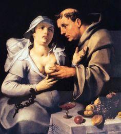 Cornelis van Haarlem – A Monk And A Beguine – 1591 – Frans Hals Museum, Haarlem, Netherlands