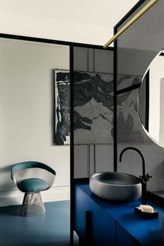 French Metal Rack: Restored Paris Apartment by Marcante-Testa (UdA) Features a Clever Zoning System | http://www.yellowtrace.com.au/marcante-testa-uda-french-metal-rack-paris-apartment/