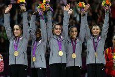 US Women's Gymnastics Team brings home the gold!  Shout out to the US Women Gymnastics Team.