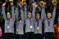 Way to go ladies!! U.S. 2012 women's gymnastics team beats out Russia for the Gold