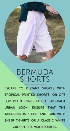 Our favorite fashion trend is back for this summer. So get your Bermuda shorts on!!