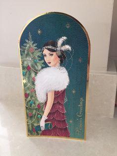 Art Deco Christmas Card From Clintons | eBay