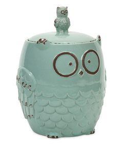 Look at this #zulilyfind! Hoot Owl Cookie Jar #zulilyfinds