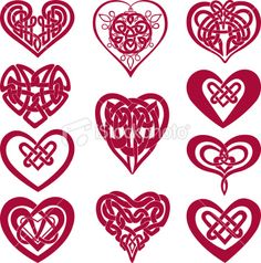 Image detail for -Celtic knot hearts Royalty Free Stock Vector Art Illustration