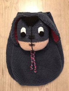 Sac à dos Bourriquet réalisé par LaurArtiste  https://www.facebook.com/LaurArtiste/ #bourriquet #âne #winnie #winnielourson #crochet #faitmain